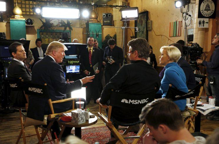 Trump talks to Scarborough and Brzezinski during an appearance on MSNBC's