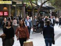 The Australian economy is showing tentative signs of growth as shoppers return to stores and cafes