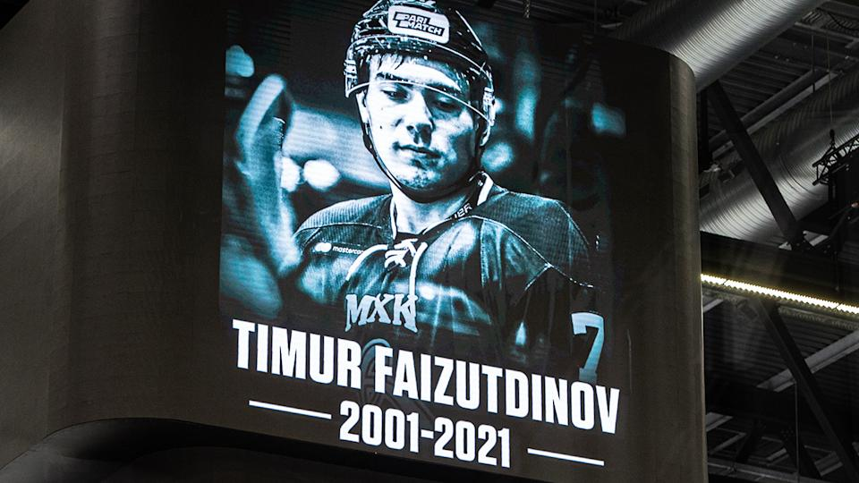 A tribute to Timur Faizutdinov, pictured here at the match between Lausanne HC and HC Davos in Switzerland.