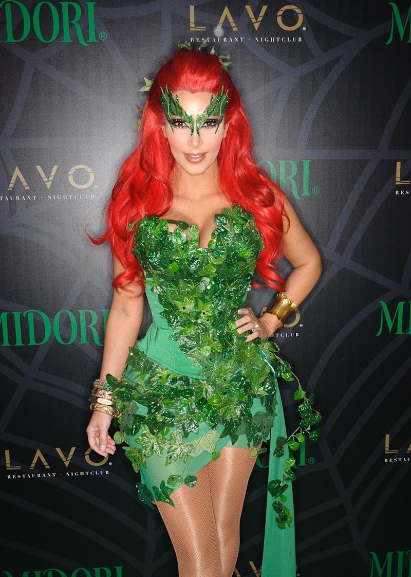 Kim Kardashion attends the Midori Green Halloween costume party at Lavo on October 29, 2011 in New York City. Photo courtesy of Getty Images.