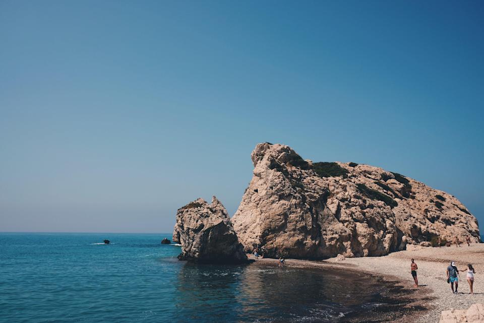 Aphrodite's Rock, Paphos in Cyprus (Unsplash)