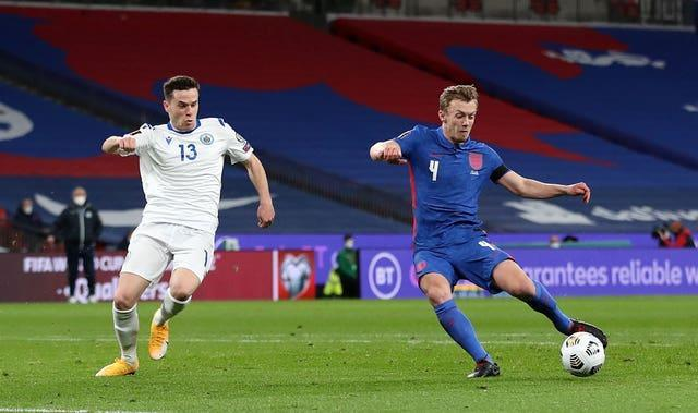 James Ward-Prowse scored for England against San Marino in March