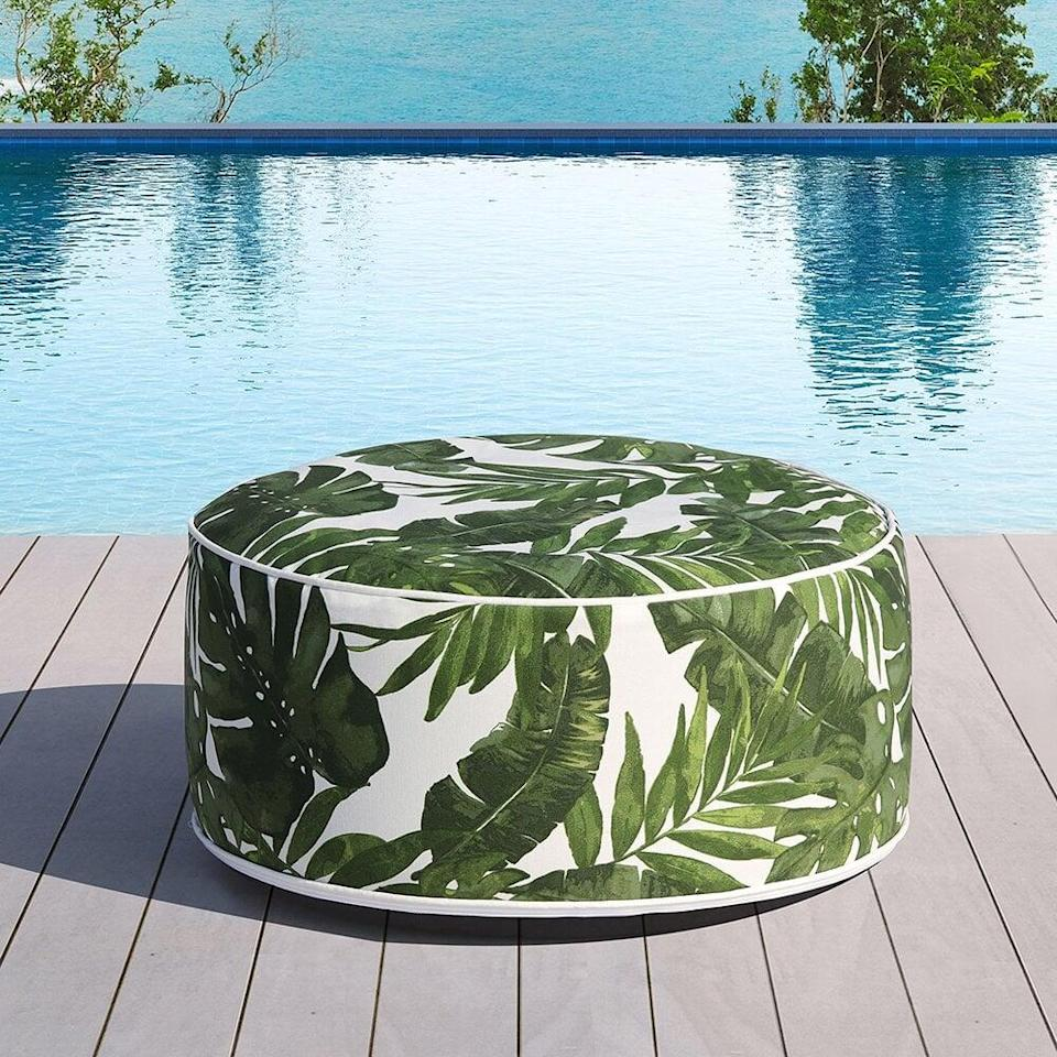 <p>This <span>Ove Decors Marlowe Outdoor Ottoman</span> ($36) will add some cheer to your backyard.</p>