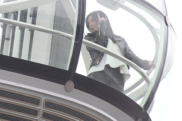 Celebrity photos: Kim Kardashian has been in London for the past week with her boyfriend Kanye West and the pair have been taking in the sights. This week Kim Kardashian filmed new scenes for her reality show on the London Eye.
