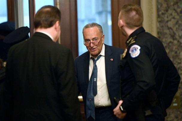 PHOTO: Senate Minority Leader Sen. Chuck Schumer of N.Y., arrives on Capitol Hill in Washington, D.C., Jan. 3, 2020. (Susan Walsh/AP)