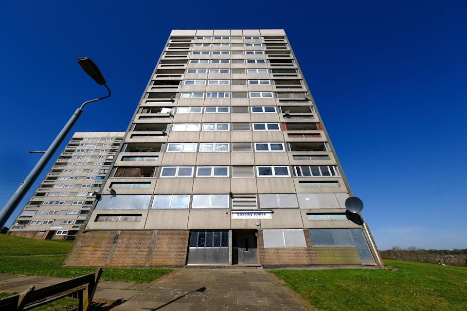 Saxelby House flats in Druids Heath. (SWNS)
