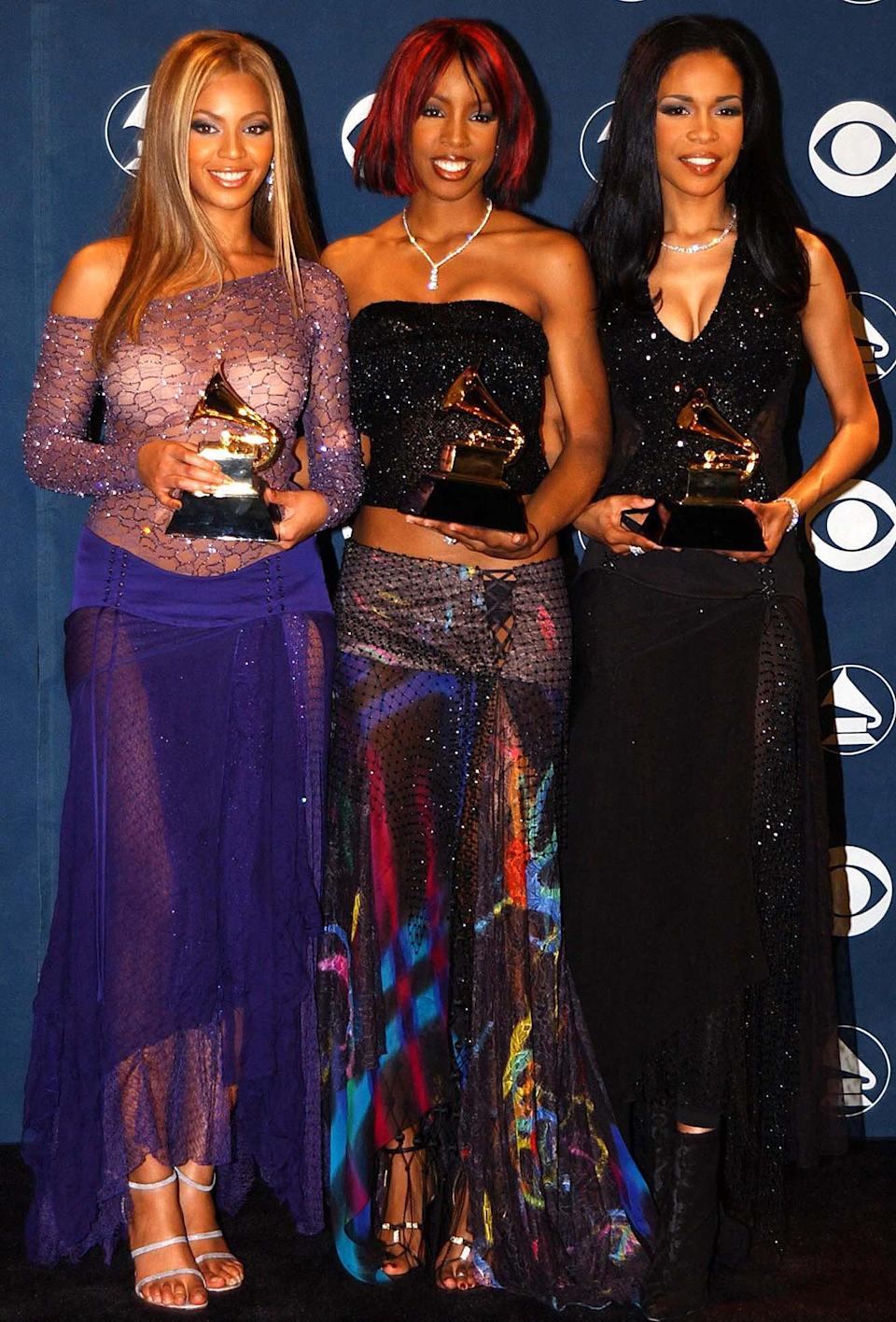 <p>In 2002, the group was nominated again for best R&B album for <em>Survivor</em> and best R&B performance by a group for their song of the same name; they won the latter. </p> <p><strong>Beyoncé's Grammy Tally:</strong> 3</p>