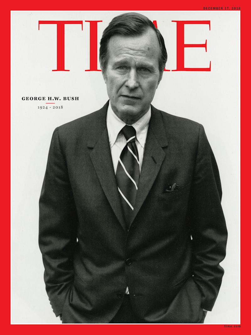Behind Time S Cover Commemorating George H W Bush S Life