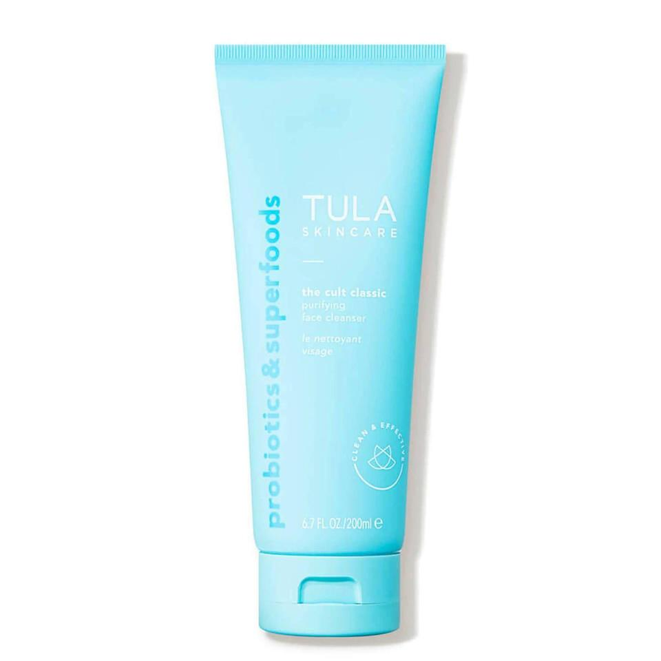"""<p><strong>TULA Skincare</strong></p><p>dermstore.com</p><p><strong>$28.00</strong></p><p><a href=""""https://go.redirectingat.com?id=74968X1596630&url=https%3A%2F%2Fwww.dermstore.com%2Ftula-skincare-the-cult-classic-purifying-face-cleanser-6.7-fl.-oz.%2F12901786.html&sref=https%3A%2F%2Fwww.womenshealthmag.com%2Flife%2Fg33503014%2Fsecret-santa-gifts%2F"""" rel=""""nofollow noopener"""" target=""""_blank"""" data-ylk=""""slk:Shop Now"""" class=""""link rapid-noclick-resp"""">Shop Now</a></p><p>You honestly can't go wrong with giving the gift of a solid skincare product. Everyone needs an amazing facial cleanser in their life, even your grumpy Uncle Jeff.</p>"""
