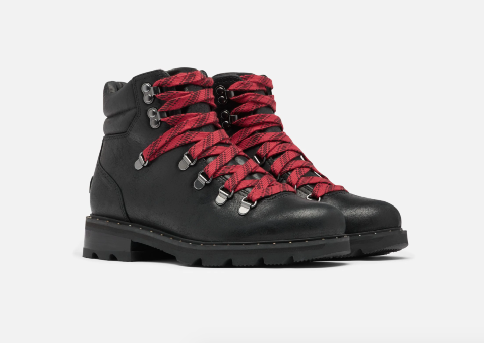 Women's Lennox Hiking Booties in black. Image via Sorel.