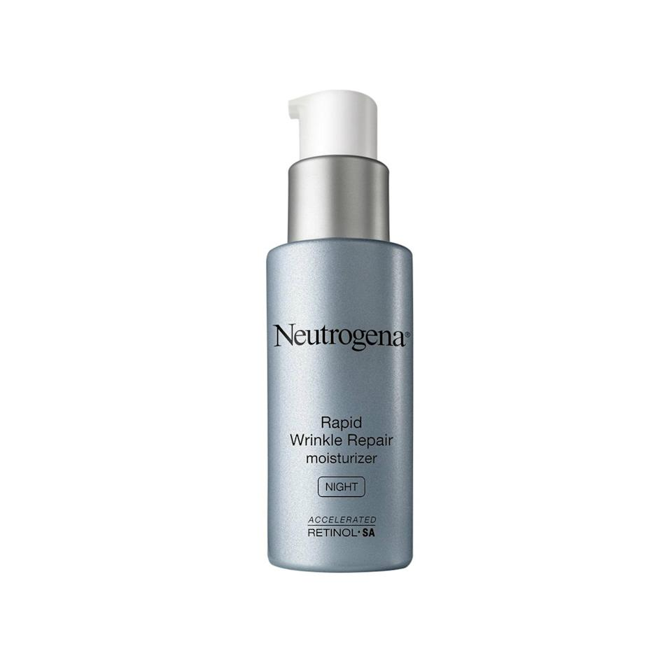 """<p>The Best of Beauty award-winning Neutrogena <a href=""""https://www.allure.com/review/neutrogena-rapid-wrinkle-repair-night-moisturizer?mbid=synd_yahoo_rss"""" rel=""""nofollow noopener"""" target=""""_blank"""" data-ylk=""""slk:Rapid Wrinkle Repair Night Moisturizer"""" class=""""link rapid-noclick-resp"""">Rapid Wrinkle Repair Night Moisturizer</a> (and its <a href=""""https://www.allure.com/review/neutrogena-rapid-wrinkle-repair-serum?mbid=synd_yahoo_rss"""" rel=""""nofollow noopener"""" target=""""_blank"""" data-ylk=""""slk:serum counterpart"""" class=""""link rapid-noclick-resp"""">serum counterpart</a>) aren't just some of the best nighttime skin-care picks you can pick up at a drugstore — they're some of the best night products <em>period</em>, no matter the price point. """"Not all retinol products are created equal,"""" Joshua Zeichner, director of cosmetic and clinical research in dermatology at Mount Sinai Hospital in New York City, says. """"The technology used in this product stabilizes the retinol, minimizes irritation to the skin, and enhances efficacy.""""</p> <p><strong>$27</strong> (<a href=""""https://shop-links.co/1668194635066671144"""" rel=""""nofollow noopener"""" target=""""_blank"""" data-ylk=""""slk:Shop Now"""" class=""""link rapid-noclick-resp"""">Shop Now</a>)</p>"""