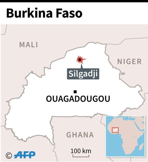 Map of Burkina locating church attack on Sunday. (AFP Photo/AFP )