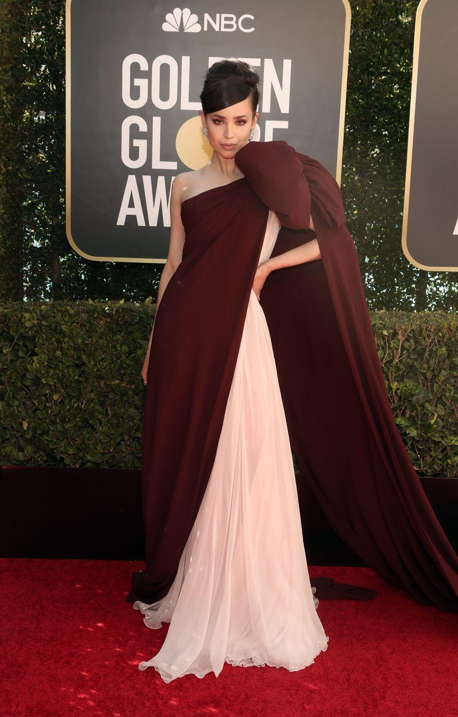 <p>In Giambattista Valli and Jimmy Choo shoes</p>