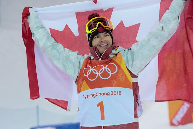 <p>Mikael Kingsbury of Canada took gold in the freestyle skiing men's moguls event. Australia's Matt Graham won the silver, while Daichi Hara of Japan won the bronze. (Getty) </p>
