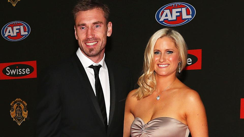 Shane Tuck, pictured here with wife Katherine at the 2012 Brownlow Medal.