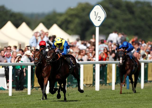 Horse Racing - Royal Ascot - Ascot Racecourse, Ascot, Britain - June 20, 2018 Poet's Word ridden by James Doyle wins the 4.20 Prince of Wales's Stakes Action Images via Reuters/Andrew Boyers