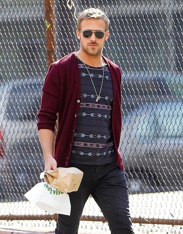 Ryan Gosling seen out and about in NYC. Ryan walked around New York City with a friend.
