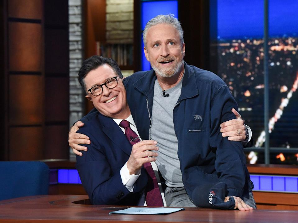 Jon Stewart and Stephen Colbert have been friends for decades.