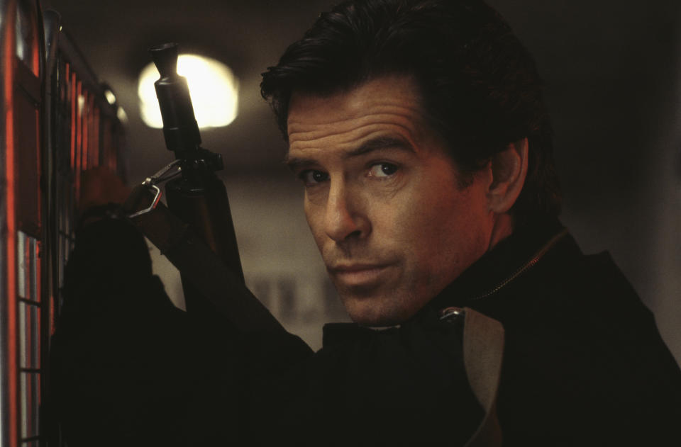 Irish actor Pierce Brosnan as 007 in the James Bond film 'GoldenEye', 1995. (Photo by Keith Hamshere/Getty Images)
