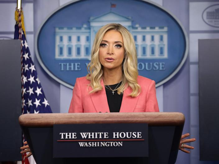 White House press secretary Kayleigh McEnany has contracted the coronavirus. (Getty Images)