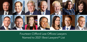 Fourteen Clifford Law Offices Lawyers Named to 2021 Best Lawyers® List