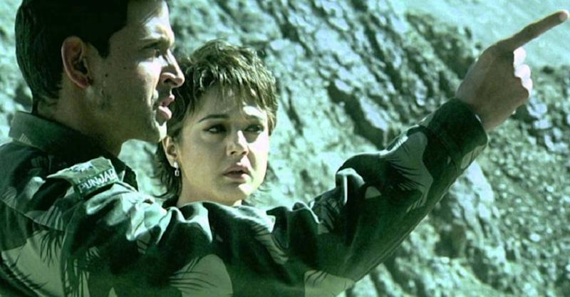 Hrithik Roshan and Preity Zinta in a still from Lakshya. YouTube