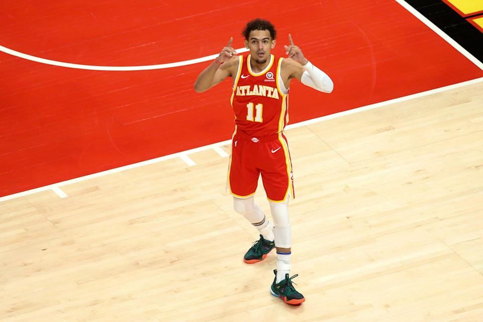 Trae Young is averaging 27.7 points and 10.3 assists in his first career playoff series.