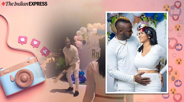 andre russell, andre russell baby annoucement, andrell russell baby gender reveal, cricket news, indian express