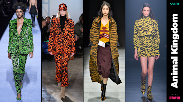 At NYFW, animal prints are a big trend for fall. (Photo: Getty/Art: Quinn Lemmers)