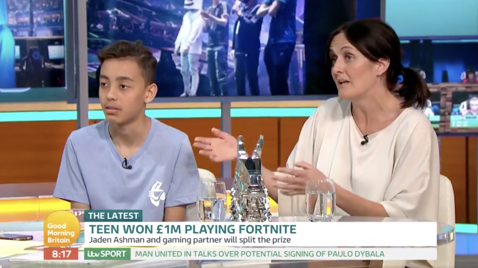 Ashman's mum Lisa Dallman admitted she knew nothing about the competition, but has been impressed by her son's skills (ITV)