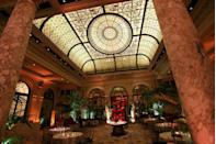 "<p>This elegant hotel in midtown Manhattan is the height of New York City extravagance. The <span class=""redactor-unlink"">distinguished establishment</span> has treated guests to the finest amenities since 1907, providing a butler for each floor, and serving <a href=""https://www.elledecor.com/life-culture/entertaining/a14434101/plaza-etiquette-course/"" rel=""nofollow noopener"" target=""_blank"" data-ylk=""slk:refined tea in the Palm Court"" class=""link rapid-noclick-resp"">refined tea in the Palm Court</a>, with its marble columns and stained-glass ceiling.<br></p><p><strong>EXPLORE NOW:</strong> <a href=""https://www.tripadvisor.com/Hotel_Review-g60763-d675616-Reviews-The_Plaza-New_York_City_New_York.html"" rel=""nofollow noopener"" target=""_blank"" data-ylk=""slk:The Plaza"" class=""link rapid-noclick-resp"">The Plaza</a></p>"