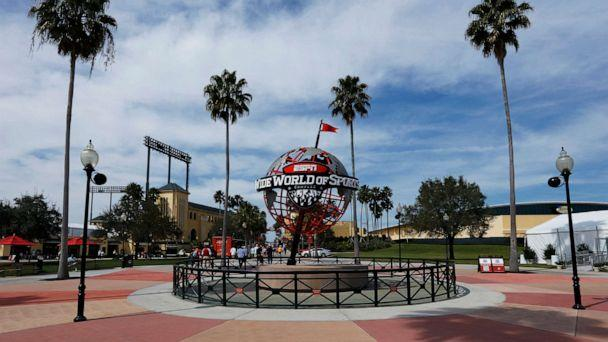 PHOTO: A view of the exterior into the ESPN Wide World of Sports Complex at Champion Stadium on March 5, 2016 in Lake Buena Vista, Fla. (Joe Robbins/Getty Images, FILE)
