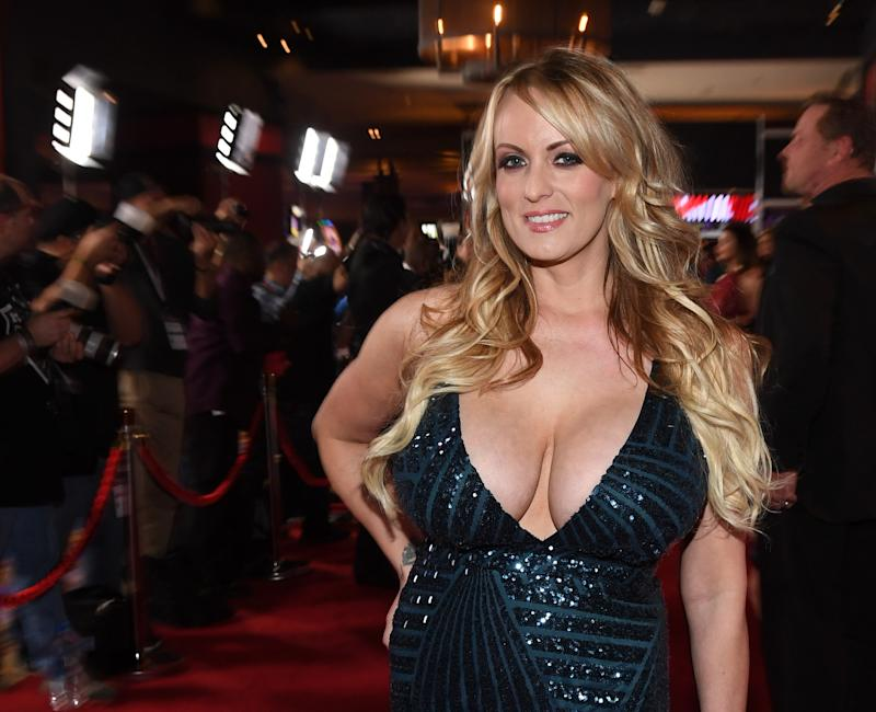 Stormy Daniels gets real descriptive about Donald Trump's sex hair in an interview with Penthouse. (Photo: Getty Images)
