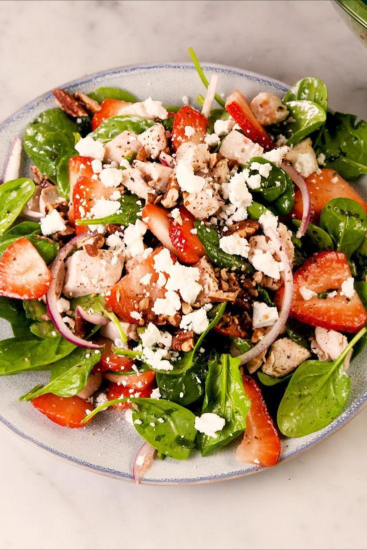 """<p>Something about strawberries and walnuts just <em>slays</em>.</p><p>Get the recipe from <a href=""""https://www.delish.com/cooking/recipe-ideas/a27077746/easy-strawberry-spinach-salad-recipe/"""" rel=""""nofollow noopener"""" target=""""_blank"""" data-ylk=""""slk:Delish"""" class=""""link rapid-noclick-resp"""">Delish</a>.</p>"""