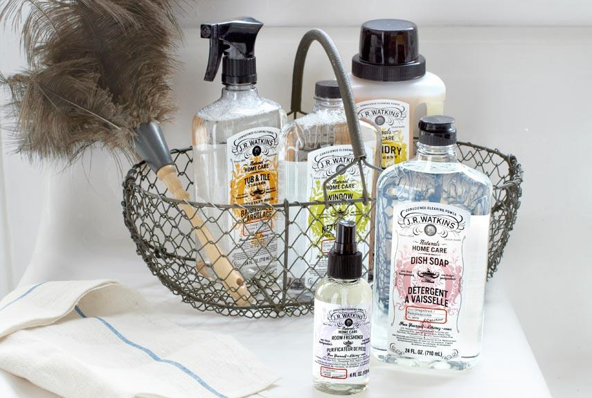 """<div class=""""caption-credit""""> Photo by: Courtesy of J.R. Watkins</div><div class=""""caption-title"""">J.R. Watkins</div>J.R. Watkins introduced its first cleaner-vegetable-based soap """"pure enough to eat!"""" according to the tagline-in 1917. The 145-year-old company's current home collection continues the natural tradition with plant-based, biodegradable dish soap, laundry detergent, window cleaner, and more. <br> <br> <i>($3.49-$12.99 each, jrwatkins.com) <br></i> <br> <b>Plus: <br> <a href=""""http://www.countryliving.com/homes/how-to-clean-white?link=rel&dom=yah_life&src=syn&con=blog_countryliving&mag=clg"""" rel=""""nofollow noopener"""" target=""""_blank"""" data-ylk=""""slk:How to Clean Everything White »"""" class=""""link rapid-noclick-resp"""">How to Clean Everything White »</a> <br> <a href=""""http://www.countryliving.com/antiques/ways-to-declutter-antiques?link=rel&dom=yah_life&src=syn&con=blog_countryliving&mag=clg"""" rel=""""nofollow noopener"""" target=""""_blank"""" data-ylk=""""slk:7 Ways to Declutter Your Antiques Pile »"""" class=""""link rapid-noclick-resp"""">7 Ways to Declutter Your Antiques Pile »</a></b>"""