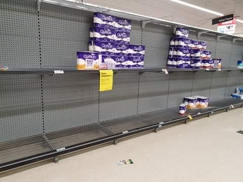 This was the scene inside Woolworths in Hillside, an area identified as a coronavirus hotspot. Source: Facebook