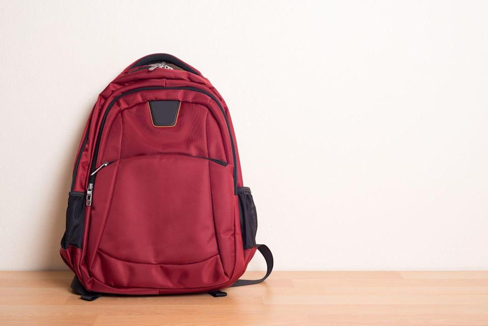 <p>Why invest in a weighted version when you probably have a backpack at home? Simply throw a few soup cans or water bottles into a backpack, and get to work. Start slow, by taking a walk around the neighborhood or even a hike on local trails. Helpful tip: Weigh the bag on a bathroom scale so you know how much you're working with and slowly increase as you build strength.</p>