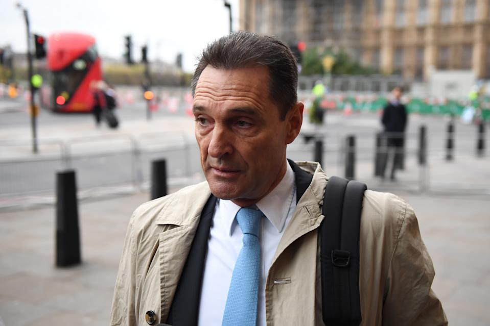 Peter Fankhauser, CEO of Thomas Cook, arrives at Portcullis House in London on Tuesday to answer MPs questions about the company's collapse. Photo: Chris J Ratcliffe/Getty