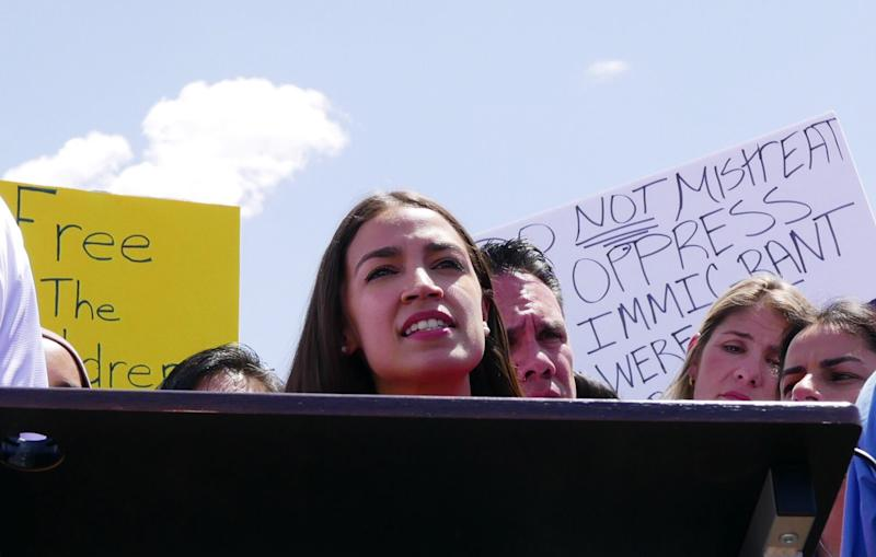 Rep. Alexandria Ocasio-Cortez in Clint, Texas. (Photo: Hunter Walker/Yahoo News)