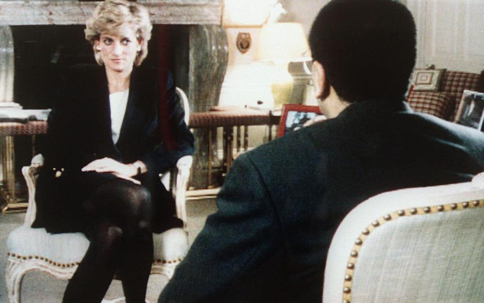 The Princess of Wales being interviewed by Martin Bashir in 1995 - AFP/Getty