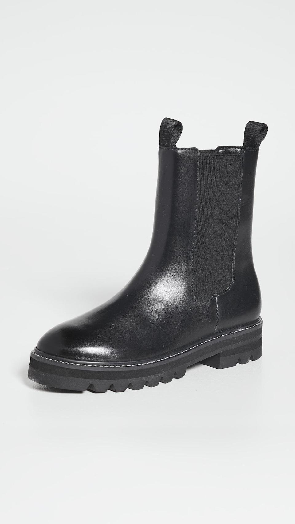 <p>These <span>Aster Lug Sole Chelsea Boots</span> ($225) are the perfect everyday boot. The classic silhouette will always be in style.</p>