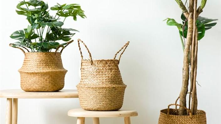 These baskets could be used in any number of ways around your home.
