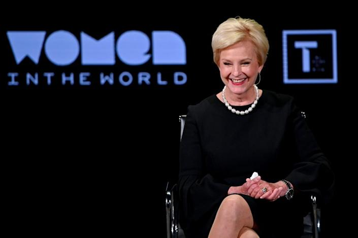 Cindy McCain speaks during the 10th Anniversary Women In The World Summit at David H. Koch Theater at Lincoln Center on April 12, 2019 in New York City. (Photo by Mike Coppola/Getty Images)