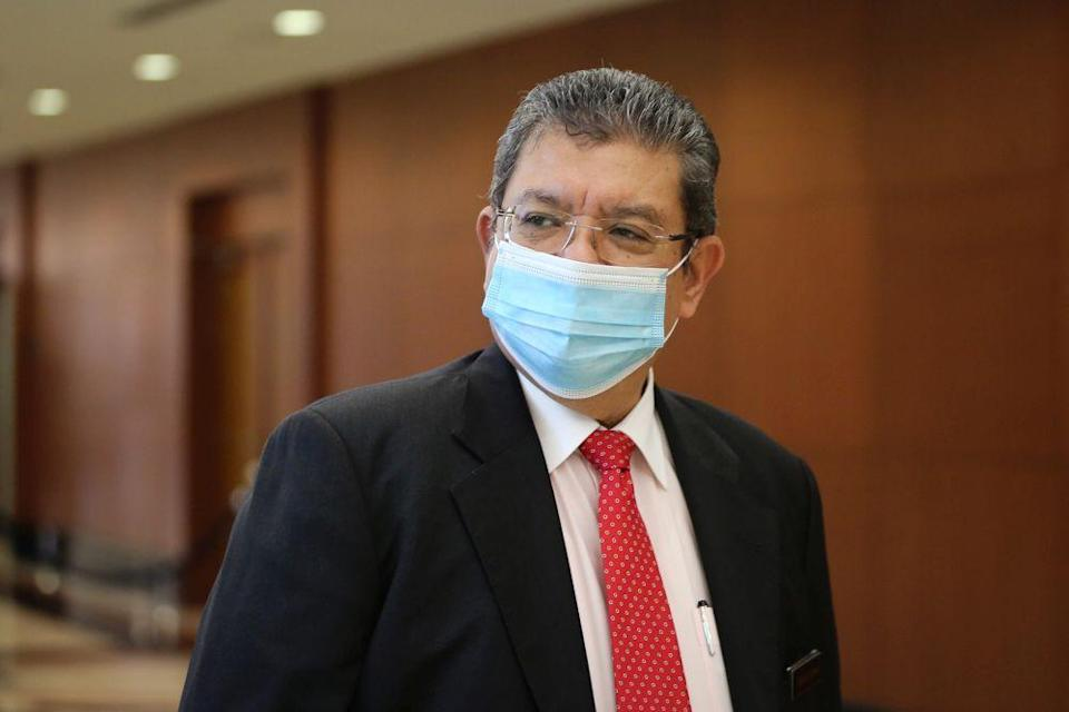 Communications and Multimedia Minister Datuk Saifuddin Abdullah is pictured at Parliament in Kuala Lumpur July 14, 2020. — Picture by Yusof Mat Isa