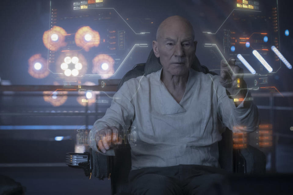 Sir Patrick Stewart as Jean-Luc Picard in <em>Star Trek: Picard</em>. (Photo: Trae Patton/CBS Interactive, Inc)