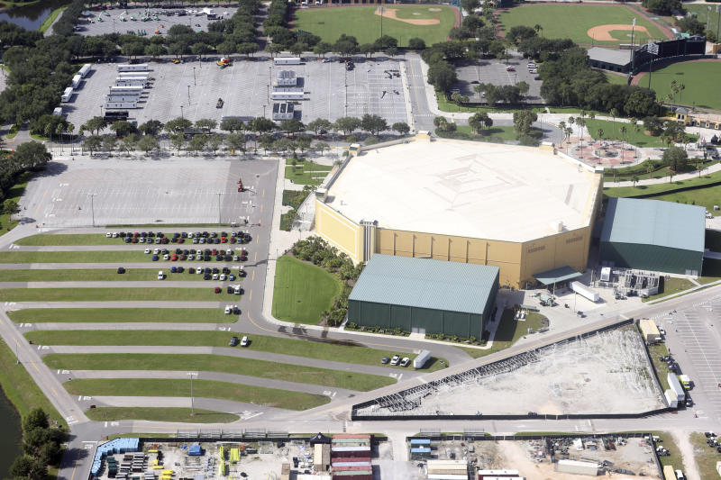 ORLANDO, FL - JULY 4: ESPN's Wide World of Sports Complex located within the Disney Complex is continuing to prepare all around the venue as The NBA is less than a week away from their move into the bubble of Orlando. With tight security at entrances to lots of infrastructure showing up on site all around the complex on July 4, 2020 In Orlando, Florida. Credit: mpi34/MediaPunch /IPX