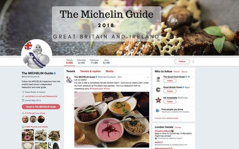 Michelin Guide UK get into hot water on Twitter