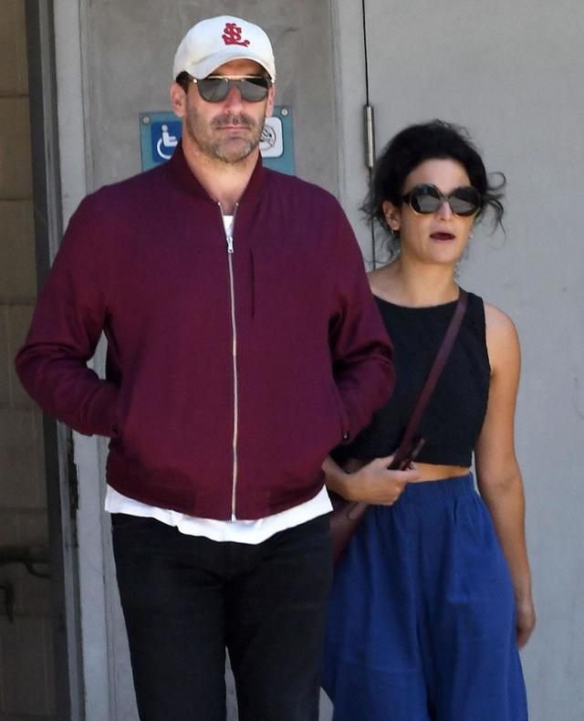 Jon Hamm and Jenny Slate were spotted leaving the Cinerama Dome theater in Hollywood together on June 10. (Photo: Cousart/JFXimages/WENN.com)