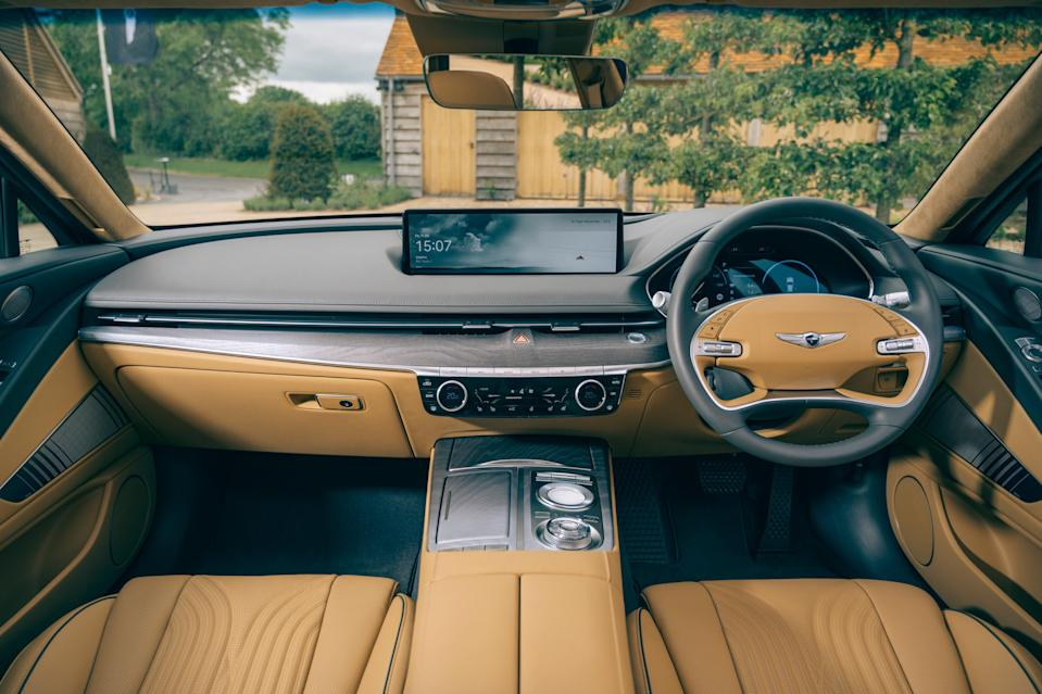 Interior view: loaded with tech (Genesis)