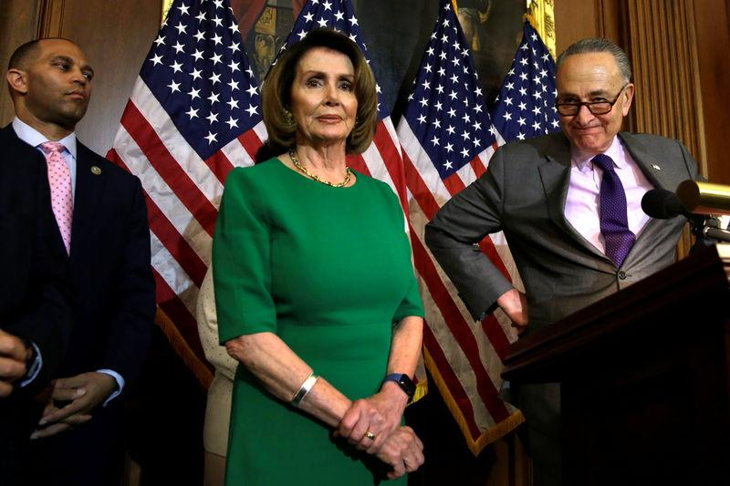 U.S. Senate Minority Leader Chuck Schumer (D-NY) attends a news conference on President Trump's first 100 days on Capitol Hill